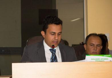 Vereador Julliano Afonso traz informes aos Vereadores